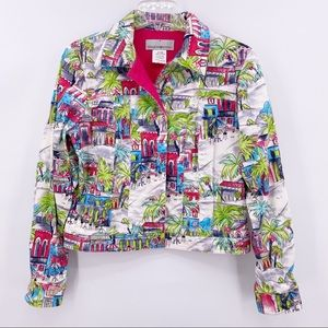 Sharon Young Blazer Size 4 Spring Colors